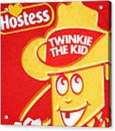Hostess Twinkie The Kid Acrylic Print by Tony Rubino
