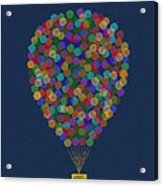 Hot Air Balloon Acrylic Print by Aged Pixel