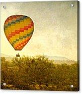 Hot Air Balloon Flight Over The Southwest Desert Fine Art Print  Acrylic Print
