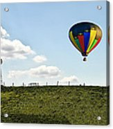 Hot Air Balloon In The Farmlands Acrylic Print