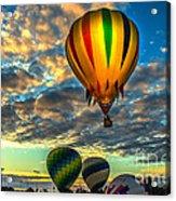 Hot Air Balloon Lift Off Acrylic Print
