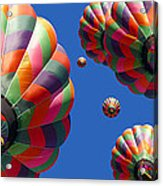 Hot Air Balloon Panoramic Acrylic Print by Edward Fielding