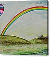 Hot Air Balloon Rainbow Acrylic Print