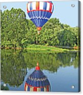 Hot Air Balloon Reflection Acrylic Print