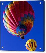 Hot Air Ballooning Together Acrylic Print