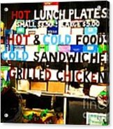 Hot And Cold Foods Acrylic Print