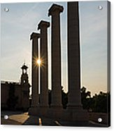 Hot Barcelona Afternoon - Magnificent Columns And Brilliant Sun Flares Acrylic Print