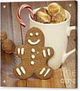 Hot Cocoa And Gingerbread Cookie Acrylic Print by Juli Scalzi