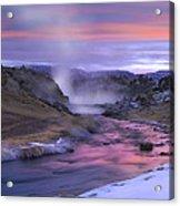 Hot Creek At Sunset Sierra Nevada Acrylic Print