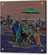 Hot Day At The Beach - Solarized Acrylic Print