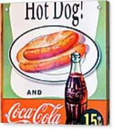 Hot Dog And A Coke Acrylic Print