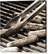 Hot Dogs On The Grill Acrylic Print
