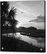 Hot June Sunrise I        Bw Acrylic Print by Sheri McLeroy