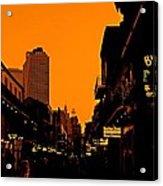 Hot Nights On Bourbon Street Acrylic Print