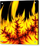 Hot Orange And Yellow Fractal Fire Acrylic Print