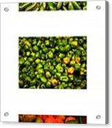 Hot Pepper Collage Acrylic Print