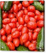 Hot Peppers And Cherry Tomatoes Acrylic Print by James BO  Insogna