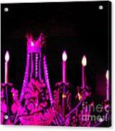 Hot Pink Chandelier Acrylic Print