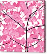 Hot Pink Leaves Melody Acrylic Print