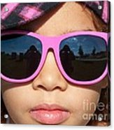 Hot Pink Sunglasses Acrylic Print