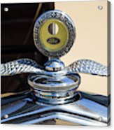 Hot Rod Car Instrument Detail Acrylic Print