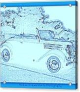 Hot Rod Digi Sketch Acrylic Print