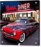 Hot Rod Diner Classic  Acrylic Print