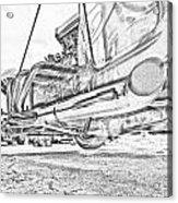 Hot Rod Exhausting Acrylic Print