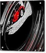 Hot Rod Hubcap Acrylic Print by motography aka Phil Clark