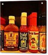 Hot Sauce Display Shelf Three Acrylic Print