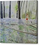 Hot Spring Bluebell Jogger Acrylic Print