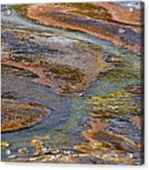Hot Spring Detail Acrylic Print