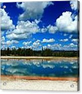 Hot Springs And Clouds Acrylic Print