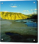Hot Springs Yellowstone Acrylic Print