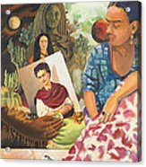 Hot Ticket Frida Kahlo Meta Portrait Acrylic Print