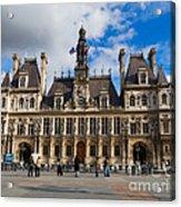 Hotel De Ville The Paris City Hall Acrylic Print