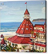 Hotel Del Coronado From Above Acrylic Print