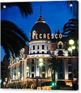Hotel Negresco Acrylic Print by Inge Johnsson
