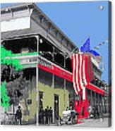 Hotel  Orndorff Colored American Flags Tucson Arizona Circa 1915-2012 Acrylic Print