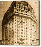 Hotel Pontchartrain Detroit 1910 Acrylic Print by Mountain Dreams