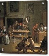 Houassemichel-ange 1680-1730. Interior Acrylic Print by Everett