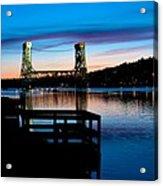 Houghton Bridge Sunset Acrylic Print