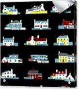 House & Garden Cover Illustration Of 18 Houses Acrylic Print