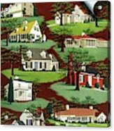 House & Garden Cover Illustration Of 9 Houses Acrylic Print