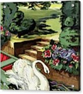 House & Garden Cover Illustration Of A Swan Acrylic Print
