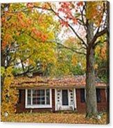 House Among The Crimson And Green Acrylic Print