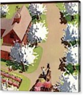 House And Garden Cover Acrylic Print