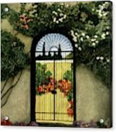 House And Garden Interior Decoration Number Acrylic Print