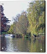 House Boat On River Avon Acrylic Print