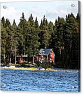 House By The Lake Acrylic Print